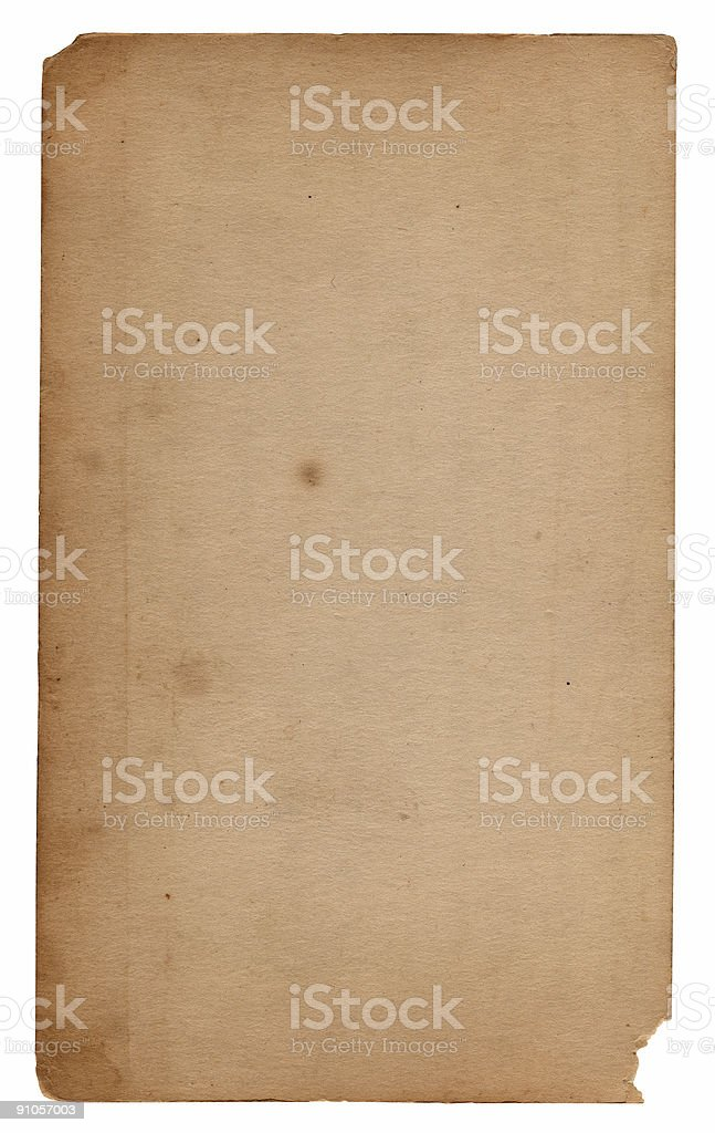 Vintage Paper/Notecard stock photo