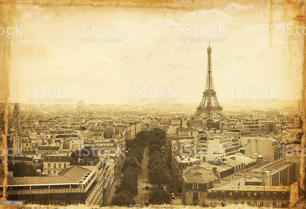 Vintage Paris Photo royalty-free stock photo