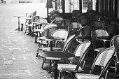 istock vintage Paris view,  street cafe 638573860
