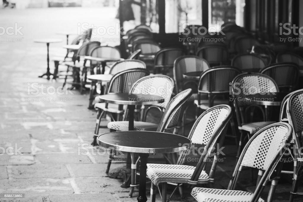 vintage Paris view,  street cafe stock photo