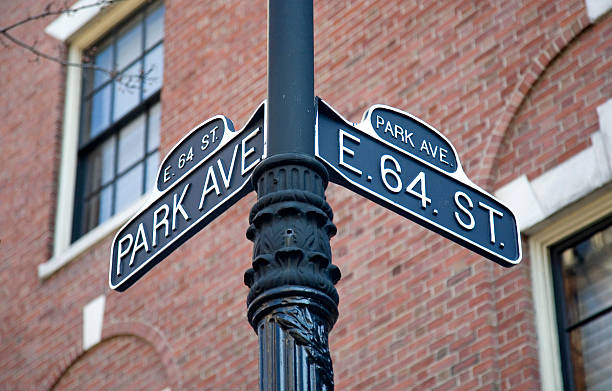 Vintage Park Avenue Street-Schild In New York – Foto