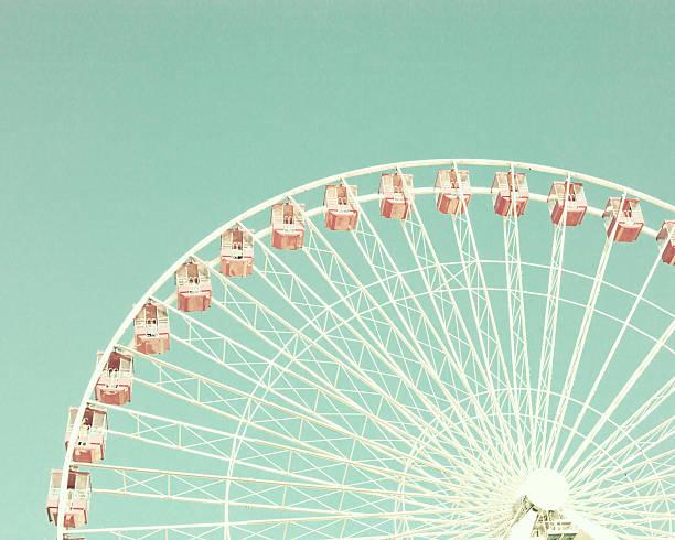 Vintage pastel ferris wheel stock photo