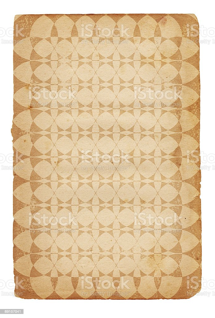 Vintage Patterned Paper XXL royalty-free stock photo