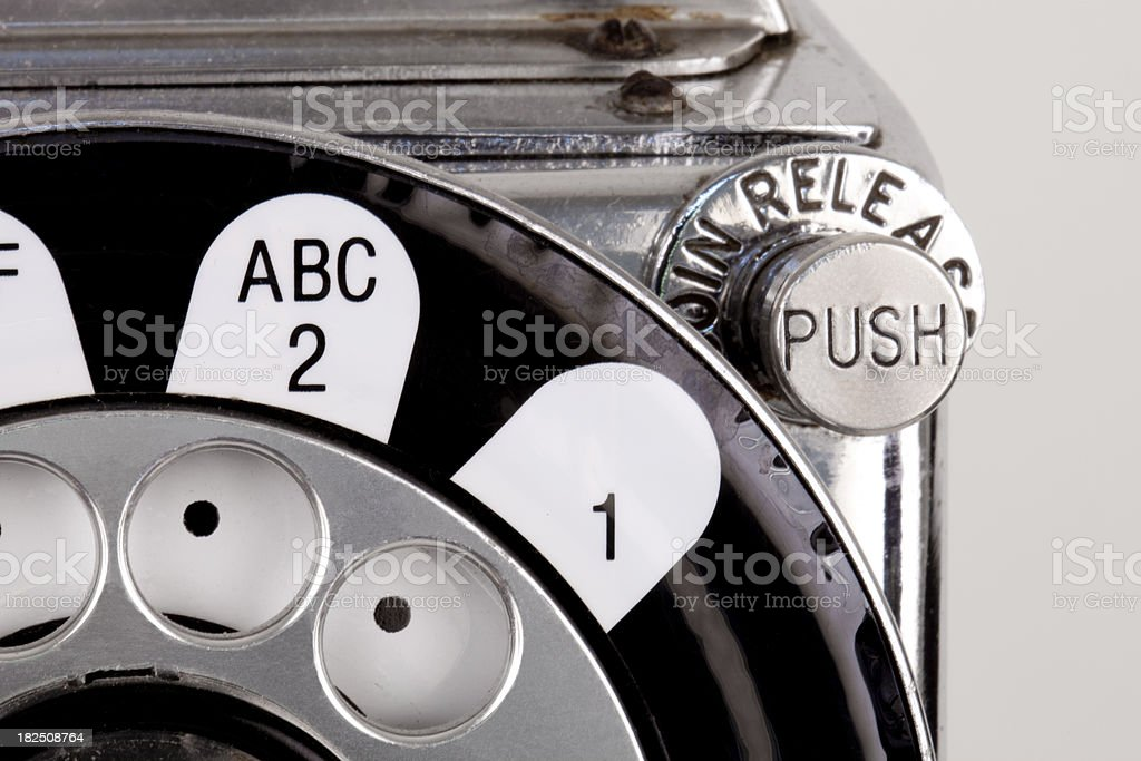 Vintage Pay Phone Close Up royalty-free stock photo