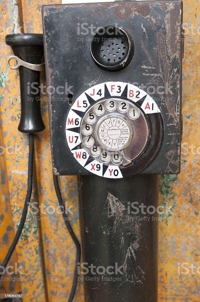 Vintage Pay Telephone stock photo