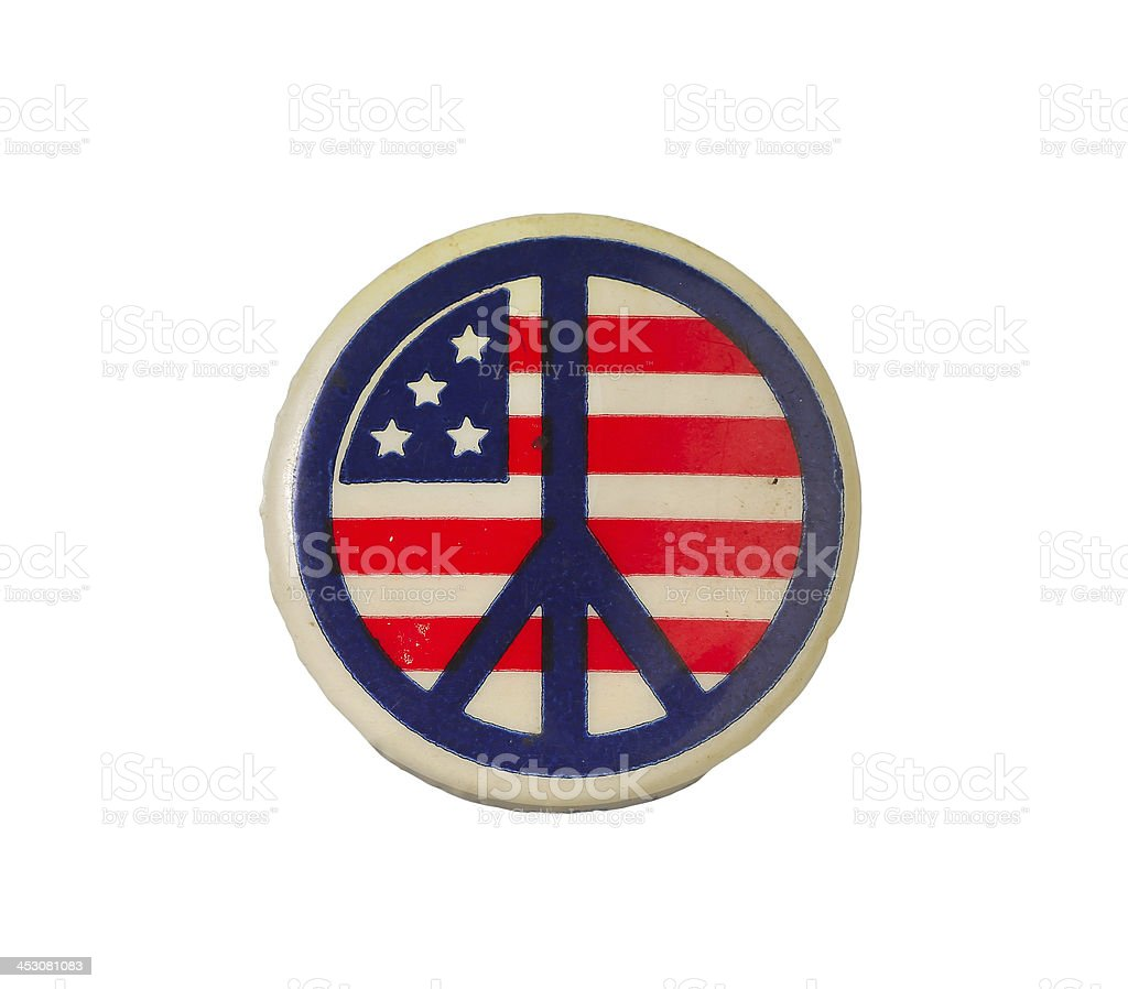 Vintage peace button royalty-free stock photo
