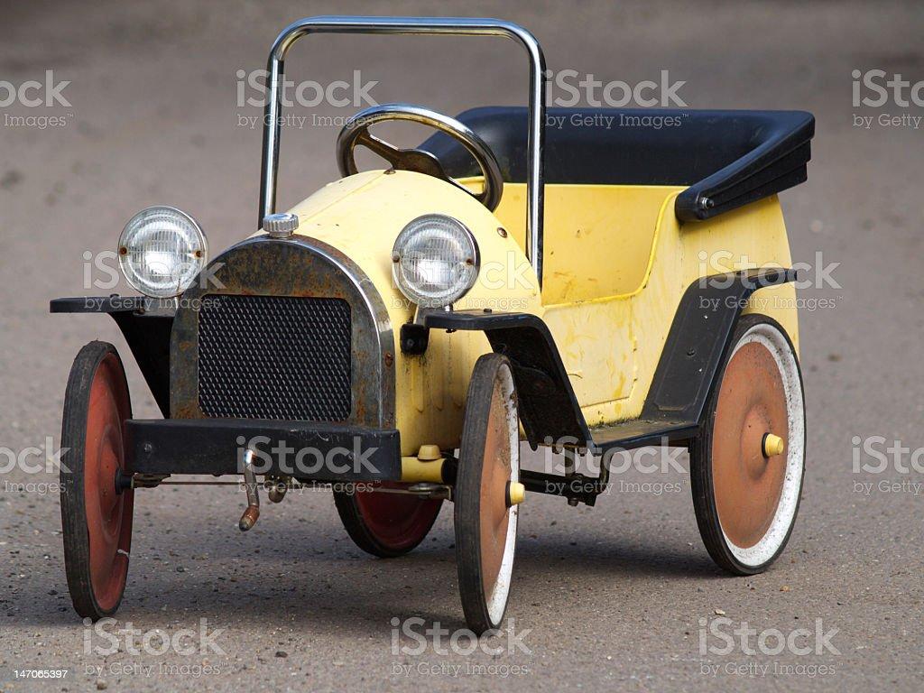 Vintage pedal car. stock photo
