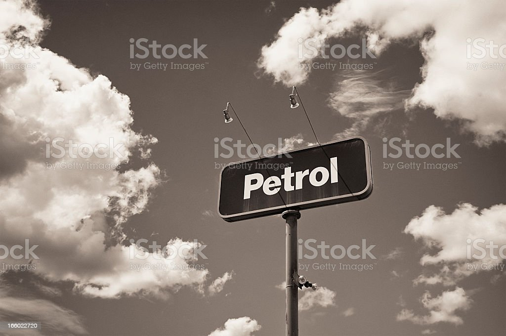 Vintage Petrol Sign royalty-free stock photo