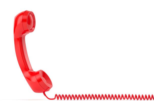 vintage phone 3d rendering - cornetta telefono foto e immagini stock