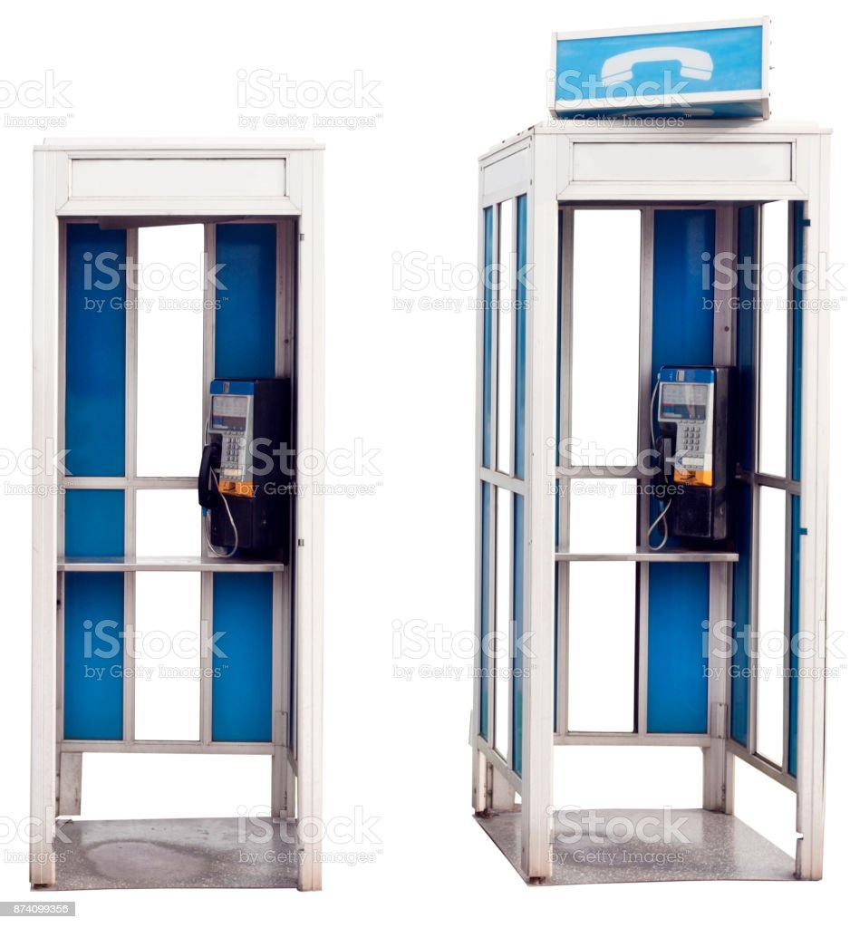 Vintage Phonebooths stock photo