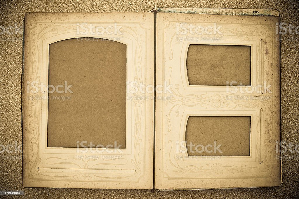 Vintage Photo Album - blank royalty-free stock photo