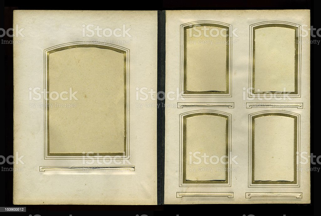 vintage photo album from 1900s royalty-free stock photo