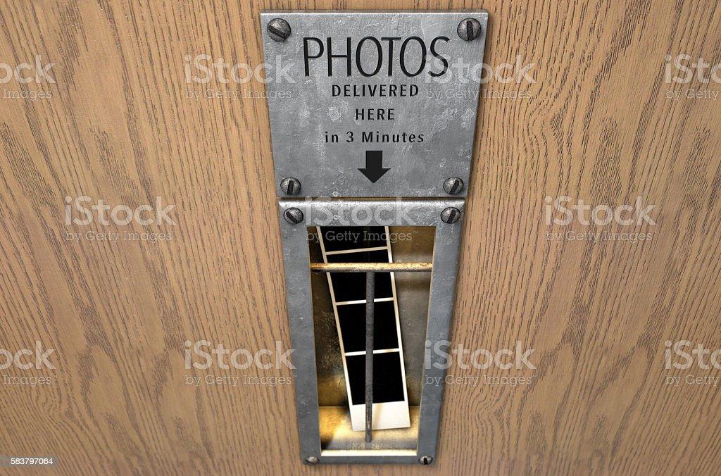 Vintage Photo Booth Pickup Slot stock photo