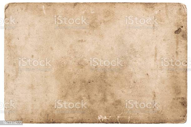 Photo of Vintage photo card Used grunge paper background