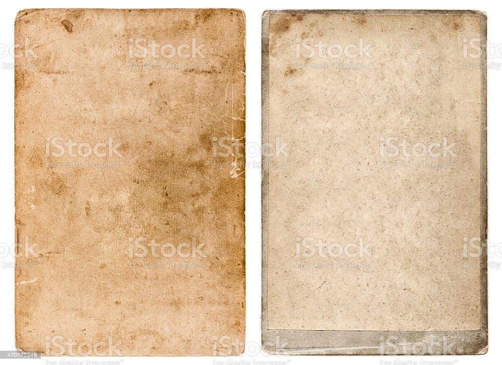 Vintage photo cardboard. Grunge used paper background stock photo