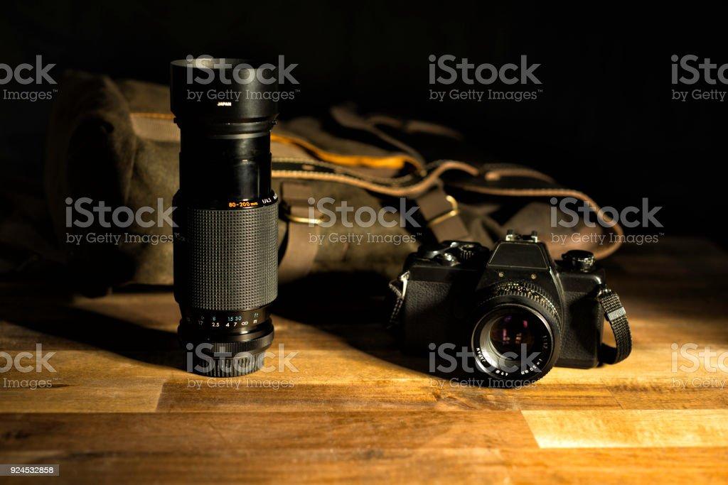 vintage photo equipment stock photo