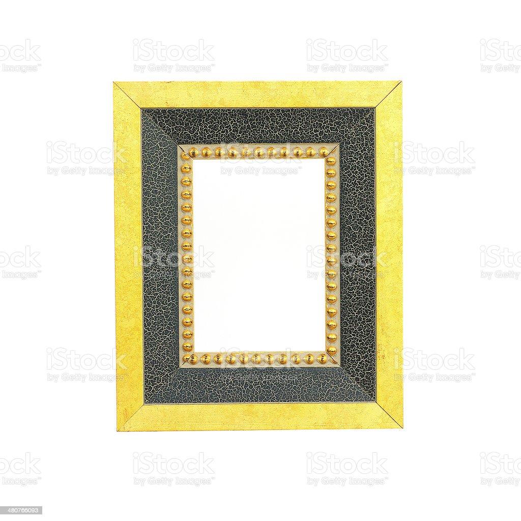 vintage photo frame isolated on white background stock photo