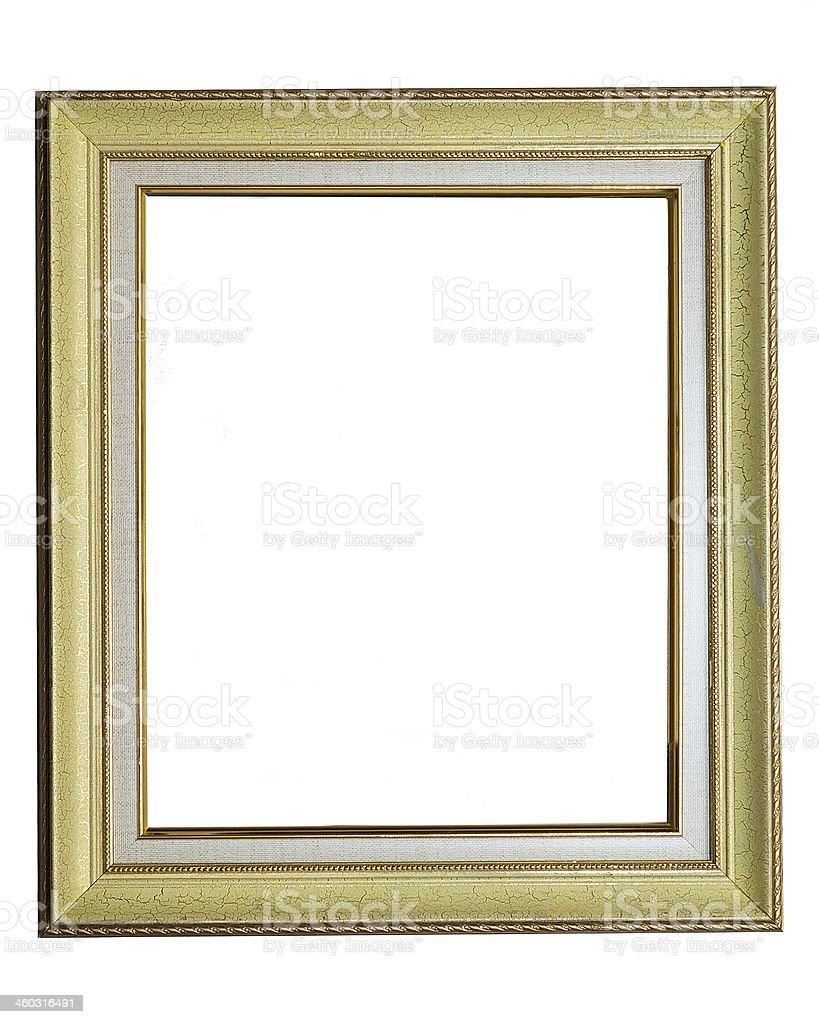 vintage photo frame  isolated on white stock photo