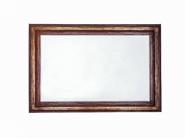 Vintage photo frame on a white background. stock photo