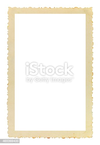 144325206 istock photo Vintage photo frame on white background 465369400