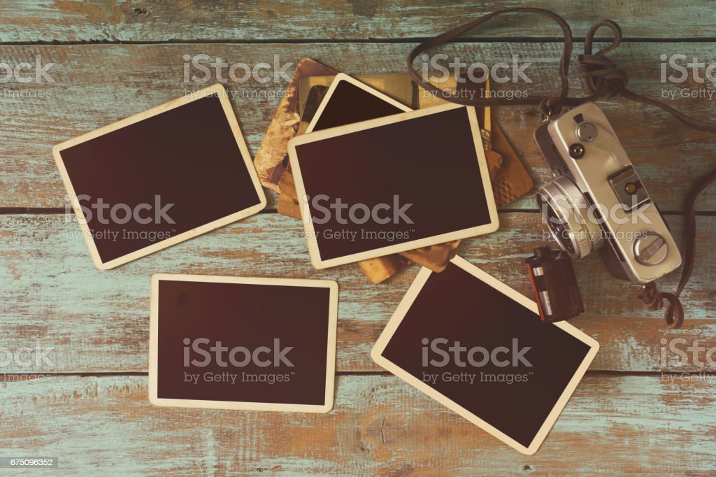 vintage photo frame stock photo