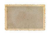 istock Vintage photo frame with figured edges. 1260210322