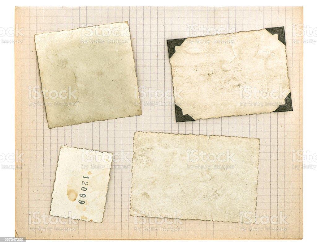 Vintage Fotorahmen Und Mathematik Buch Seite Verwendet Papier Textur ...