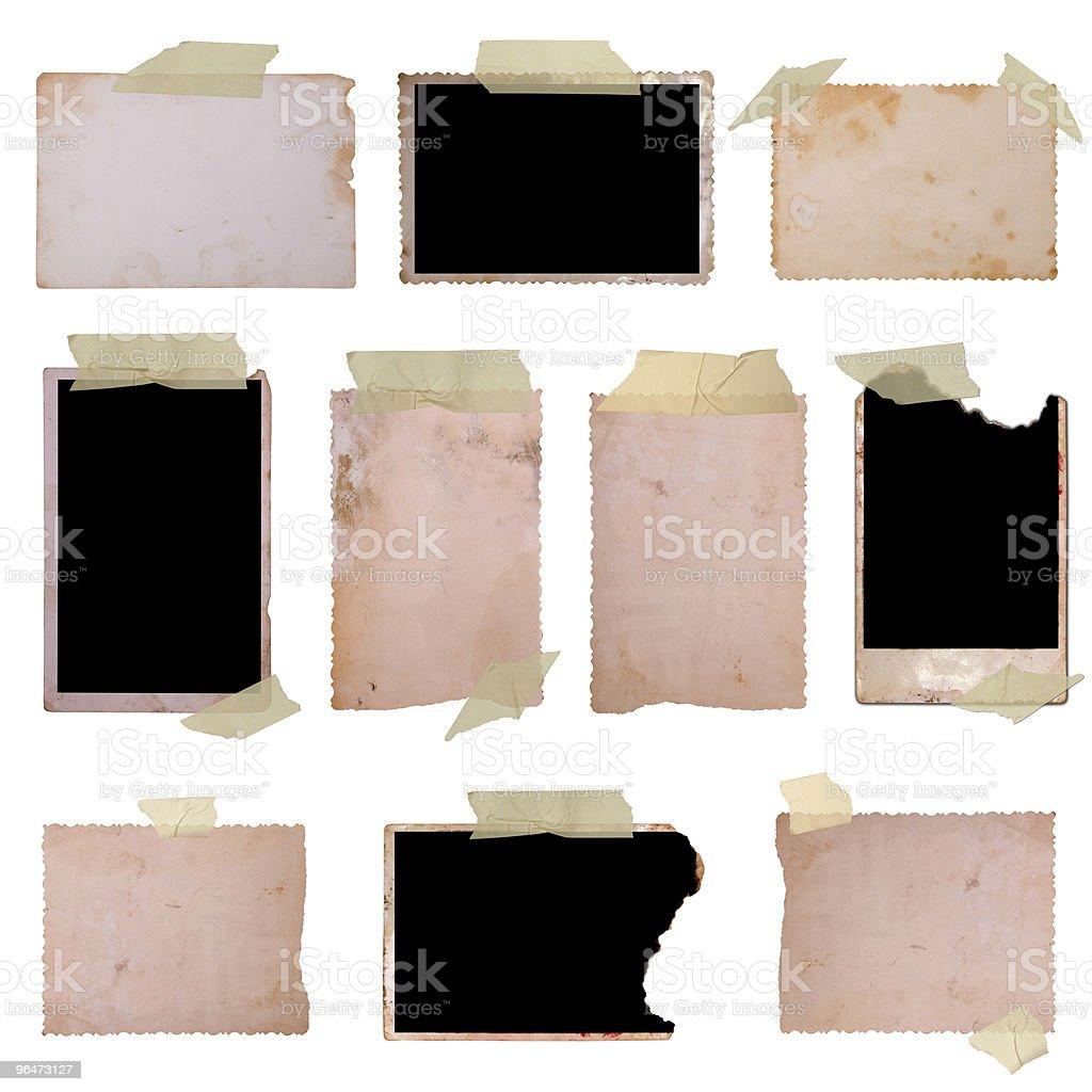 Vintage photo frames set royalty-free stock photo