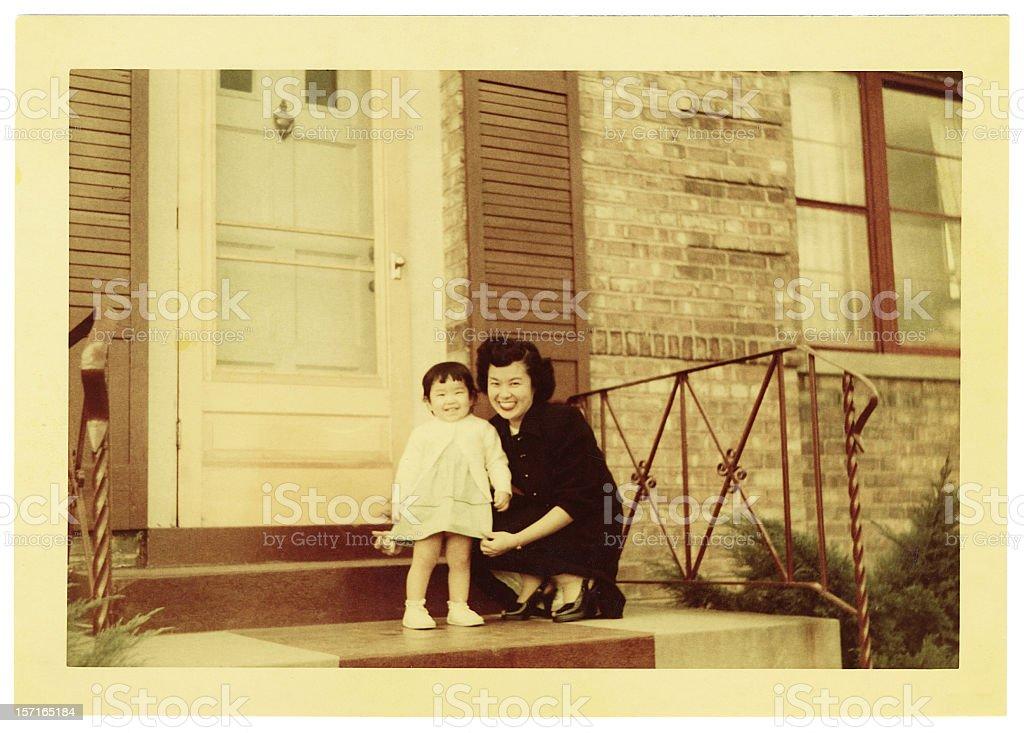 Asiatische Mutter und Tochter – Foto