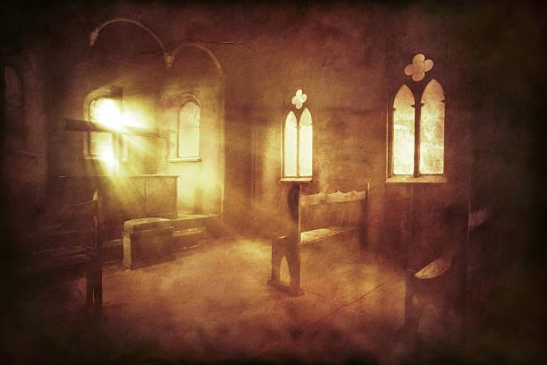 vintage foto der kirche innen - altar stock-fotos und bilder