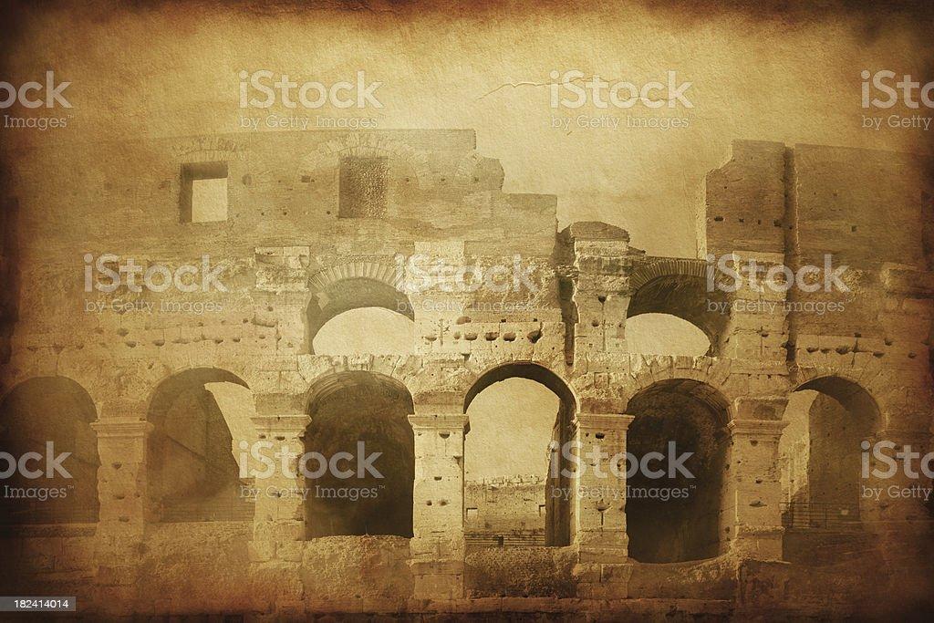 Vintage photo of Coliseum royalty-free stock photo