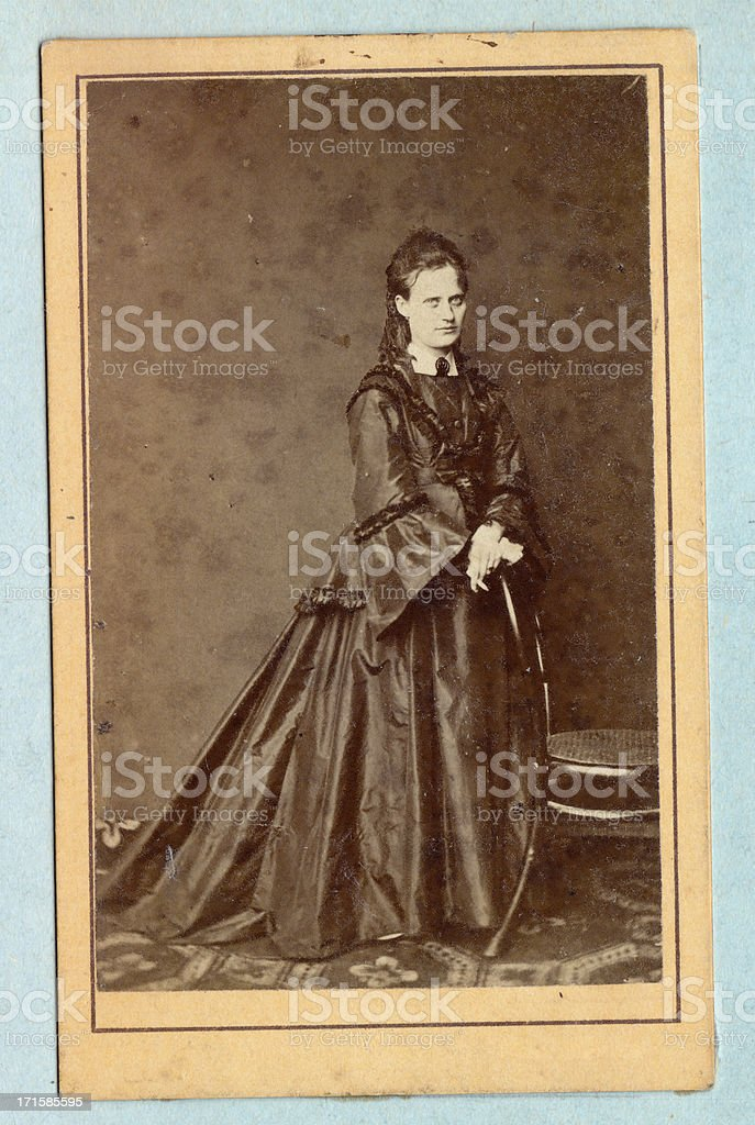 Vintage photo of young lady royalty-free stock photo