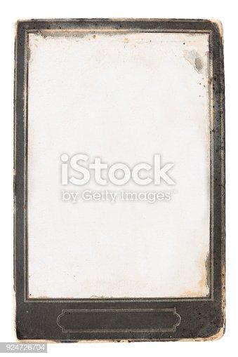882302538istockphoto vintage photo, old empty frame isolated on white background 924726704