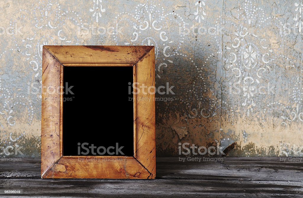 vintage photo-frame on table royalty-free stock photo