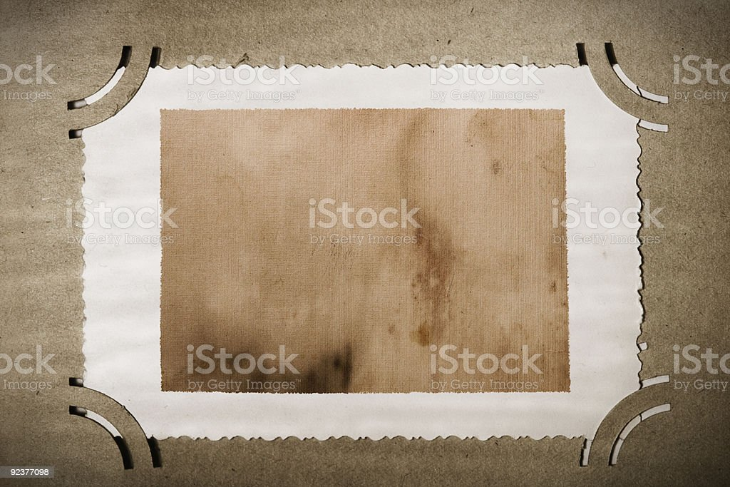 Vintage Photograph in old album, naturally aged royalty-free stock photo