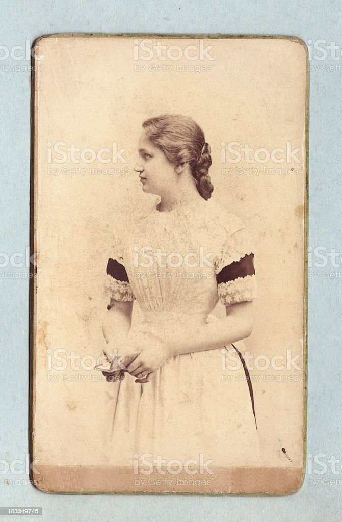 Vintage photograph of a young woman stock photo