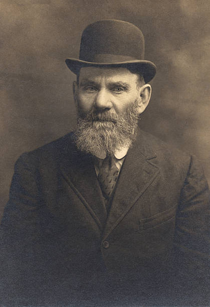 Vintage Photograph of Bearded Man  1910 1919 stock pictures, royalty-free photos & images
