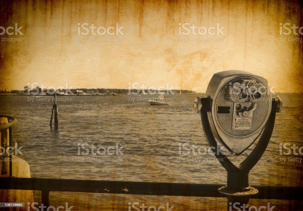 Vintage Photograph of Binoculars royalty-free stock photo