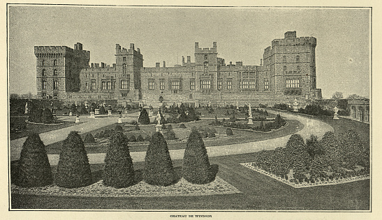 United Kingdom: Windsor Castle Upper Ward Quadrangle, Windsor Castle is a royal residence of the British monarch