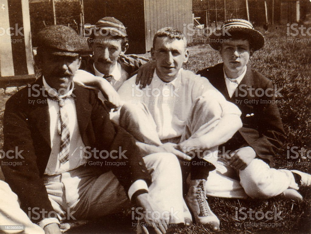 Vintage photograph Victorian Men and boys stock photo