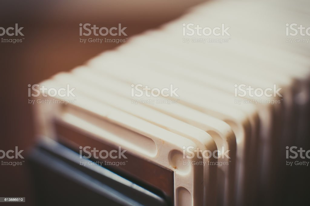 Vintage photography slide in a tray detail stock photo