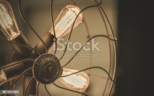 Fan With Lighting Blades