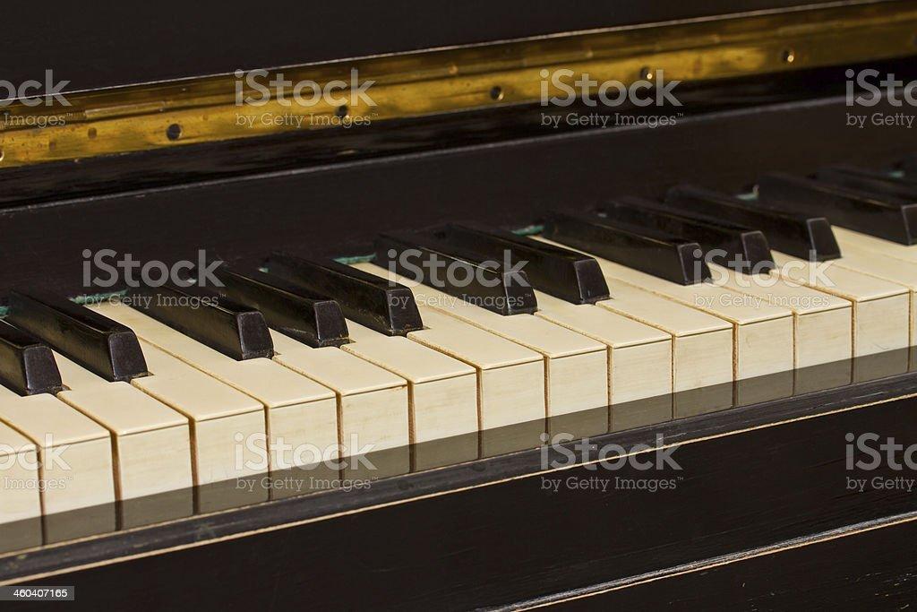 vintage piano keyboard stock photo