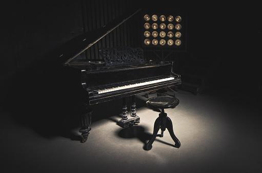 istock Vintage Piano 505409782
