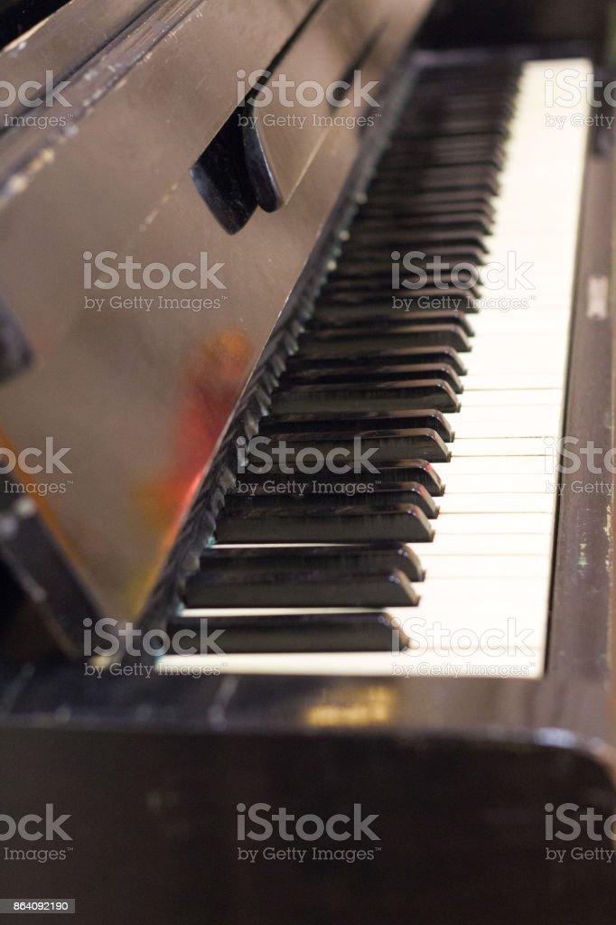 Vintage piano royalty-free stock photo