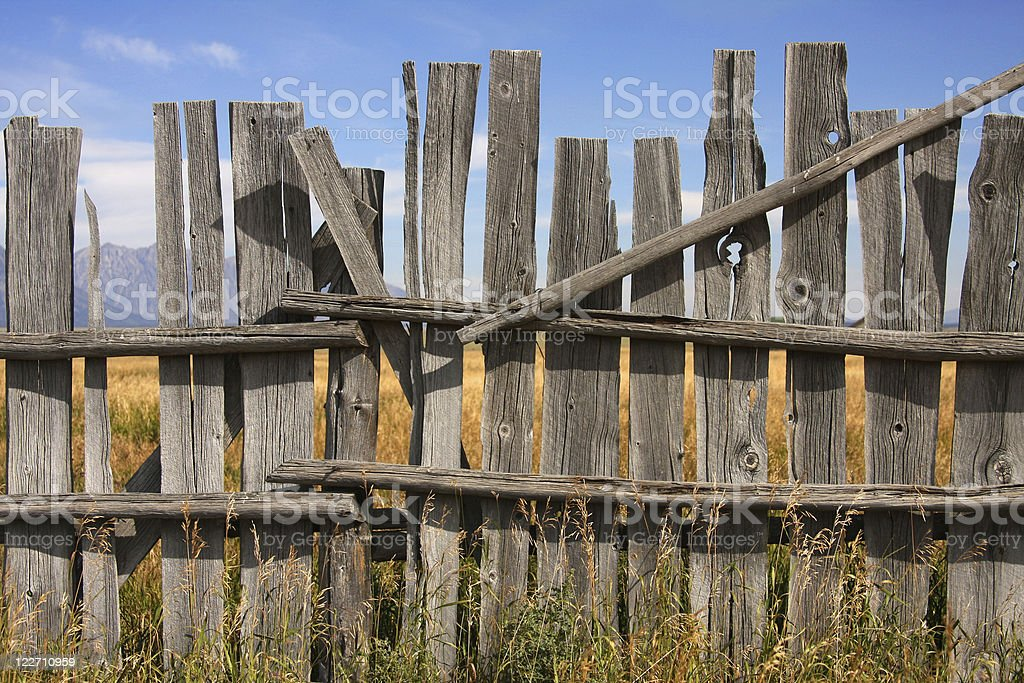 Vintage picket fence royalty-free stock photo