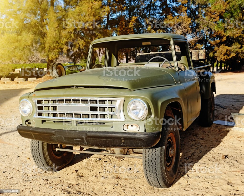 Vintage Pickup Truck On A Farm Stock Photo & More Pictures of 1960 ...