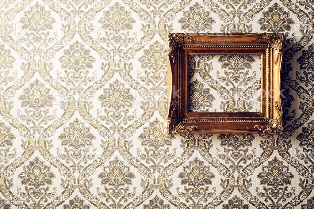 Vintage picture frame - Wallpaper Retro Gold Antique Baroque