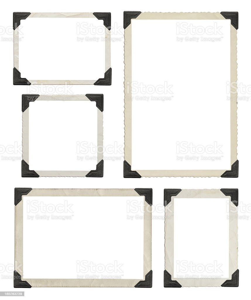 Vintage picture frames with clipping path royalty-free stock photo