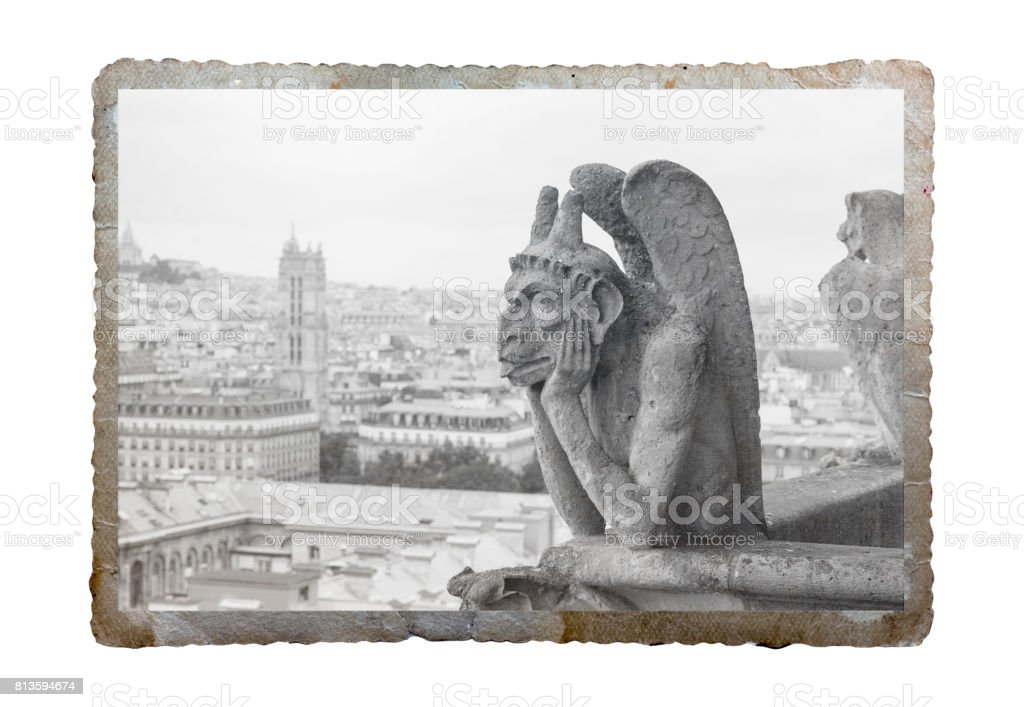 Vintage picture of Paris, France stock photo